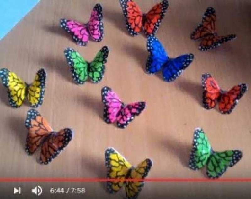Kuidas teha paberist värvilisi liblikaid?
