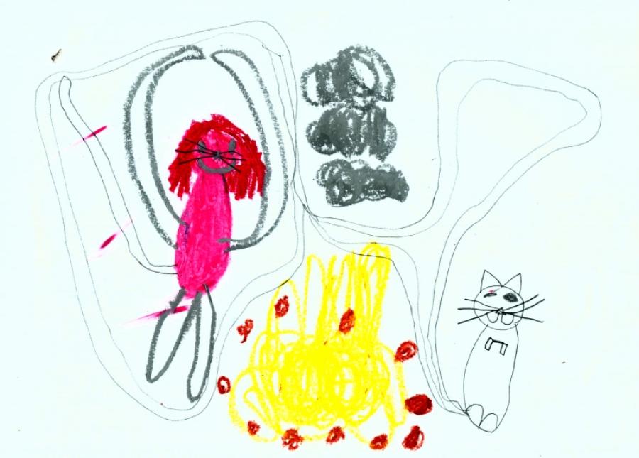 Lapsed õpivad joonistama pealesurutud juhendamiseta ja piiramiseta