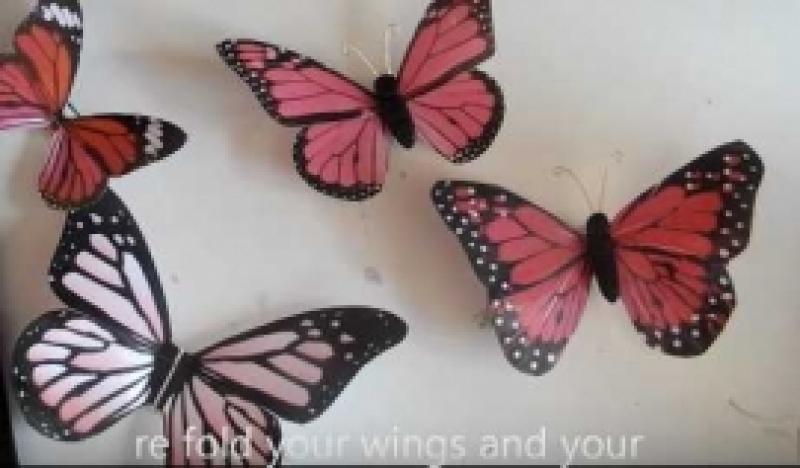 Kuidas panna trükitud liblikas