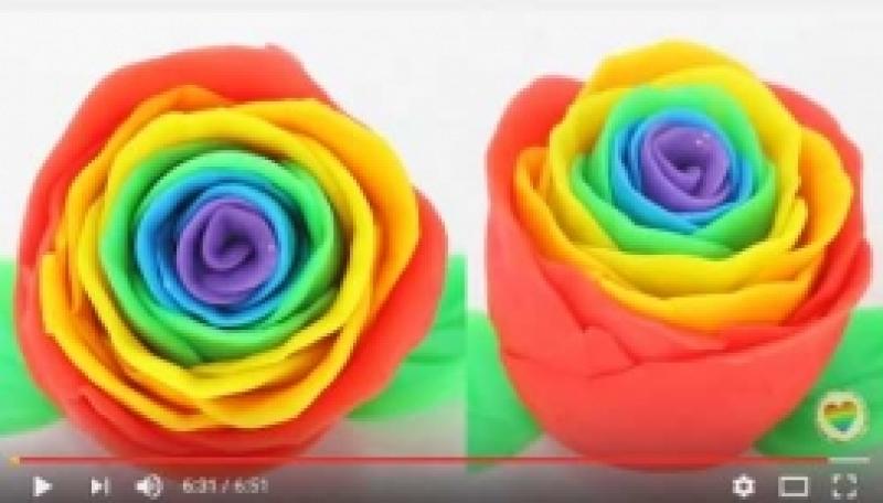 Vikerkaarevärvilised roosid