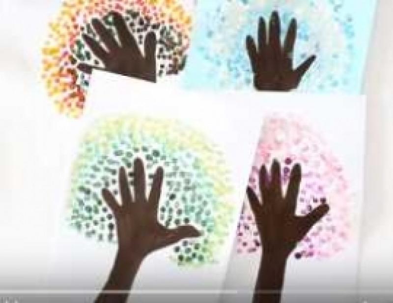 Aastaaegade vaheldumine - kasutades lapse kätt