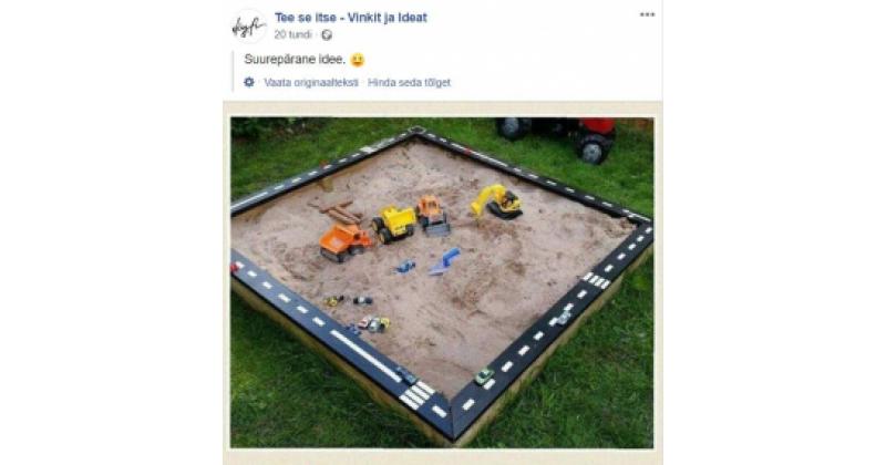 Ehita lapsele multifunktsionaalne liivakast