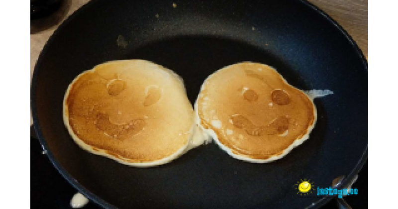 Pannkoogid, mis naeratavad lapsele vastu :-)